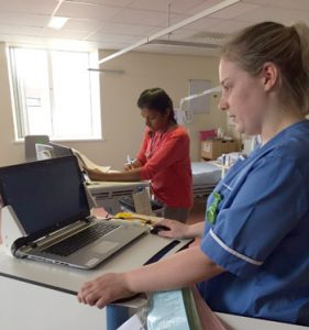 staff using QCPR at Lancashire Teaching Hospitals